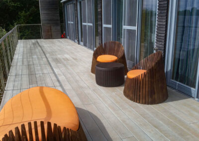 Lakeside Decking at Holiday Complex