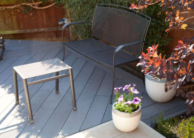 Garden Makeover with contrasting Millboard