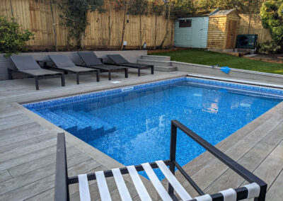 Decking and Cladding Install Around Plunge Pool