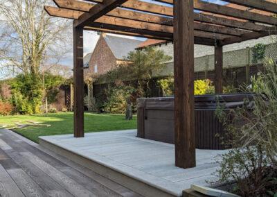 Timber Pergola Over Hot Tub