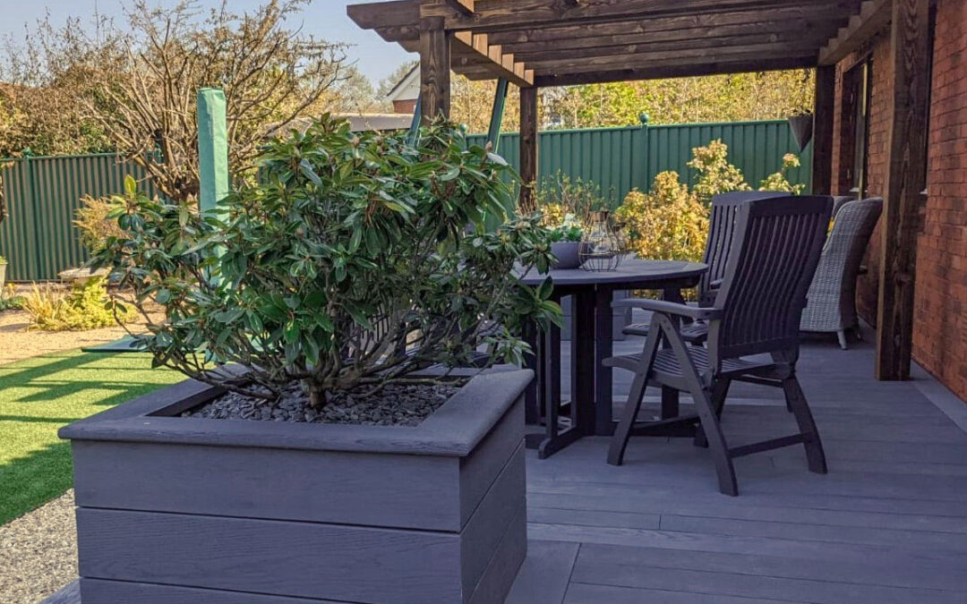 Timber Pergola with Planters